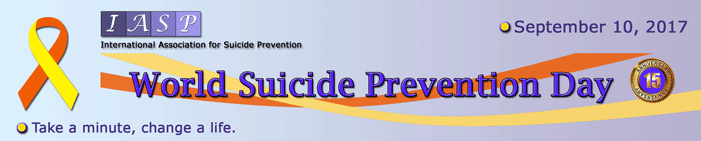 """World Suicide Prevention Day, September 10, <span class=""""part2"""">2017</span>"""
