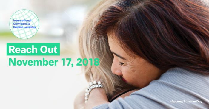International Survivors of Suicide Loss Day, November 17, 2018