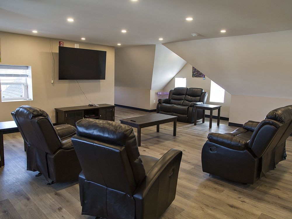 An attic common room is a feature of Brant County Safe Beds at 84 Brant Ave. BRIAN THOMPSON / THE EXPOSITOR