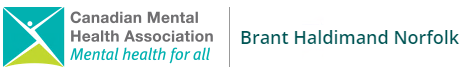 Logo for Canadian Mental Health Association: Brant Haldimand Norfolk, Mental Health for all